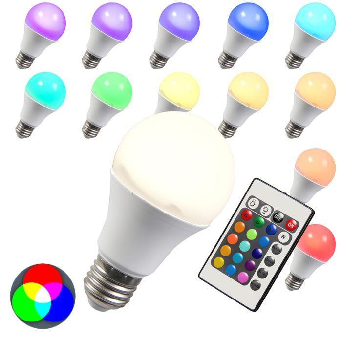 LED-E27-RGB-Bulb-10W-Warm-White