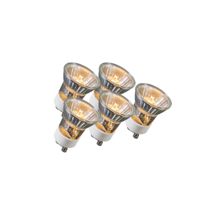 Set-of-5-GU10-3.5cm-Halogen-35W-400LM