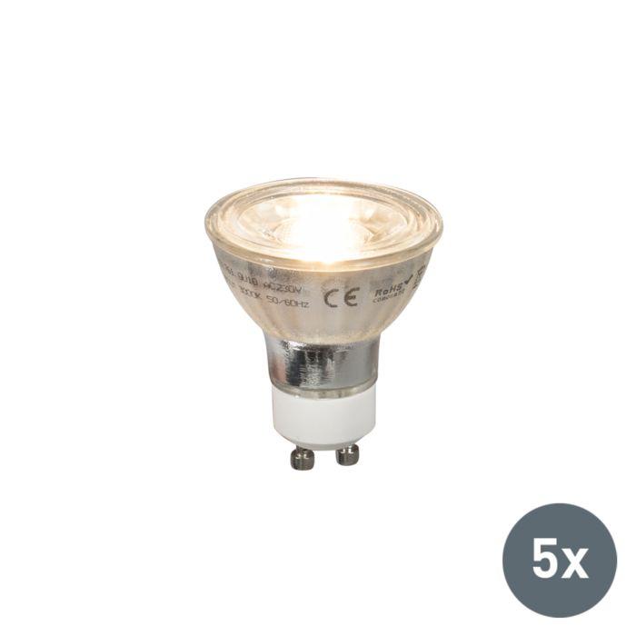 Set-of-5-GU10-COB-LED-5W-380LM-2700K