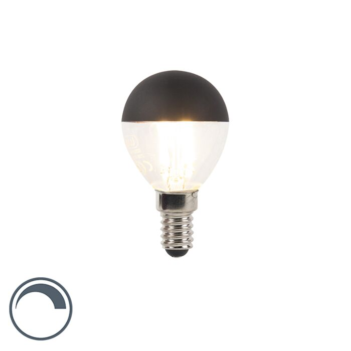 -E14-LED-P45-Mirror-Black-Top-4W-300LM-Dimmable