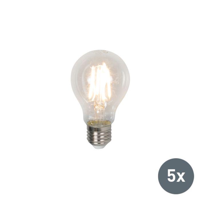 Set-of-5-E27-LED-A60-4W-400LM