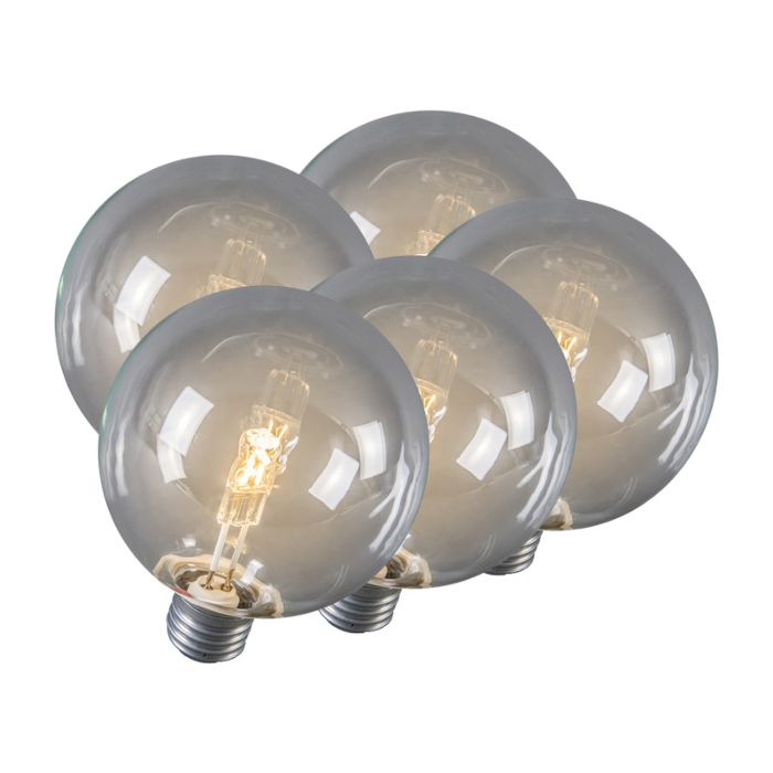 Set-of-5-E27-Halogen-Globe-95mm-28W-370LM