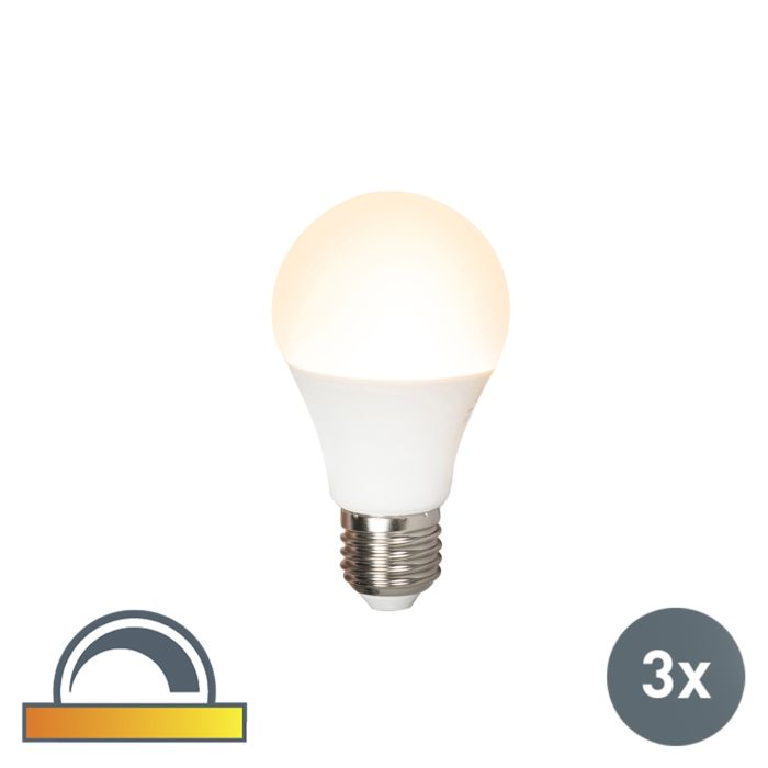 Set-of-3-LED-lamp-E27-240V-7W-510lm-A60-dimmable