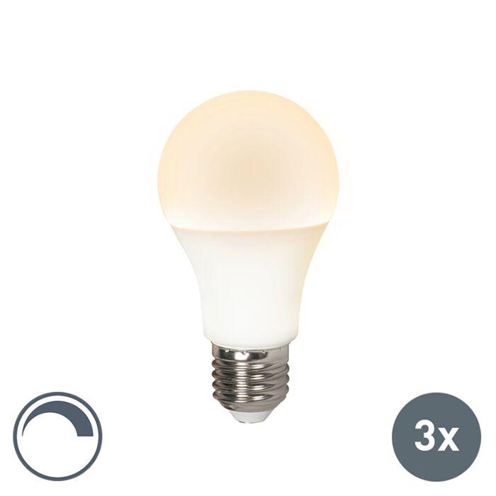 Set-of-3-E27-LED-A60-10W-810LM