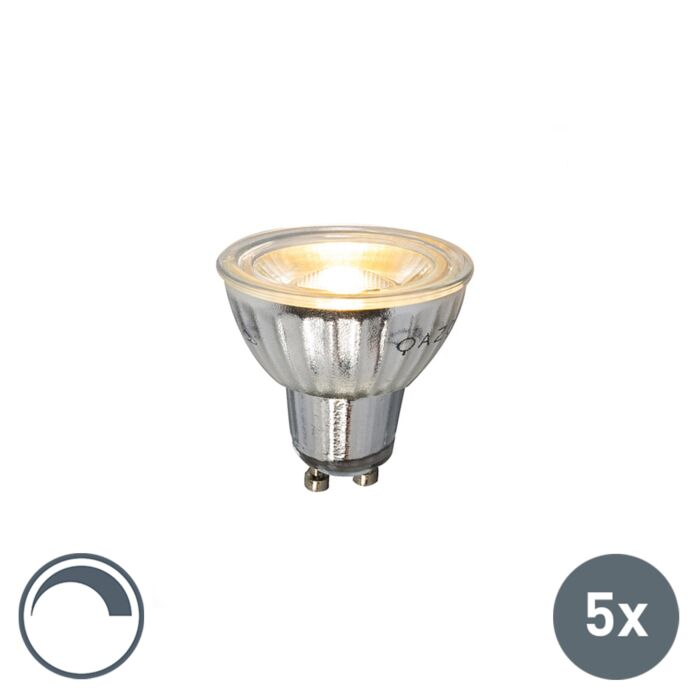 Set-of-5-GU10-dimmable-LED-lamp-7W-500LM-2700K