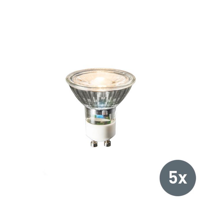 Set-of-5-GU10-LED-lamps-COB-3W-230lm-2700K