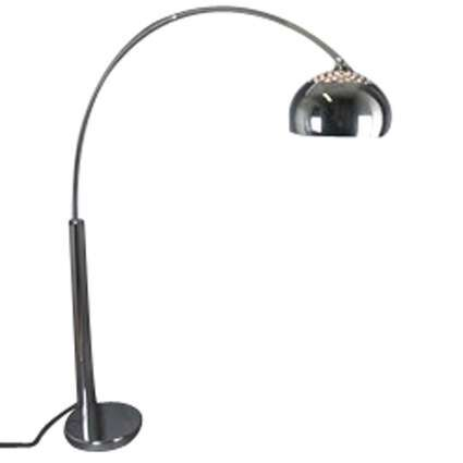 Arc-Lamp-Chrome-with-Chrome-Shade