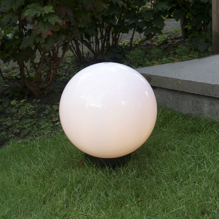 Modern-outdoor-lamp-with-ground-pin-30-cm-IP44---Bulb