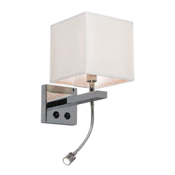 Wall-lamp-Brescia-chrome-and-off-white-shade