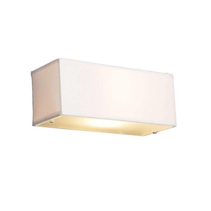 Modern-Rectangle-Wall-Lamp-White---Drum