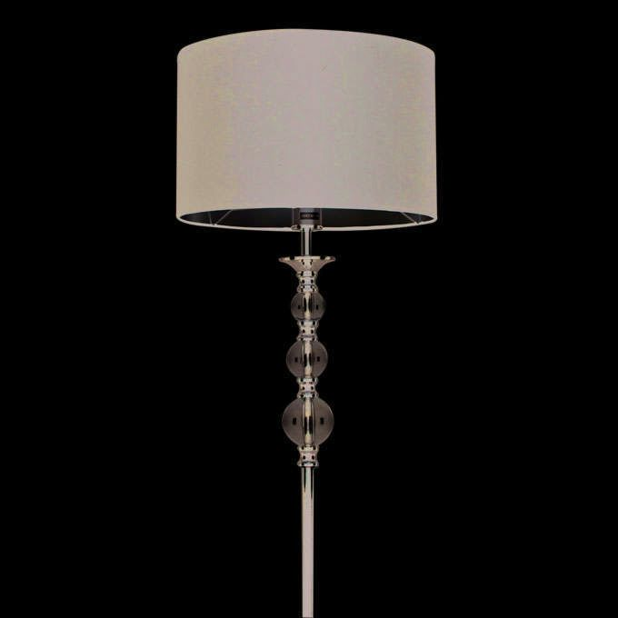 Floor-lamp-Calabash-chrome-with-black-shade