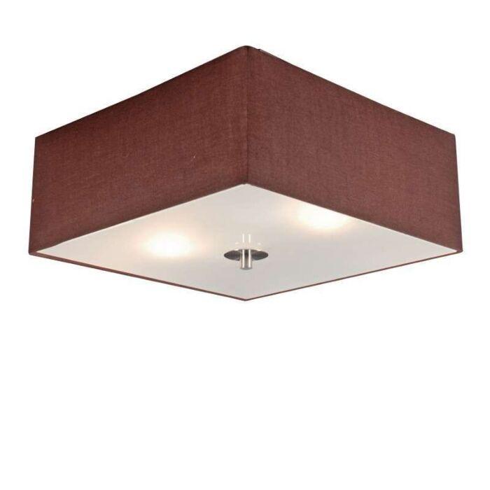Ceiling-lamp-Drum-35-square-brown