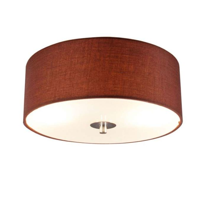 Ceiling-Lamp-Drum-30-Round-Brown