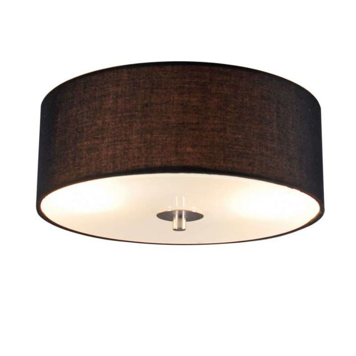 Country-ceiling-lamp-black-30-cm---Drum