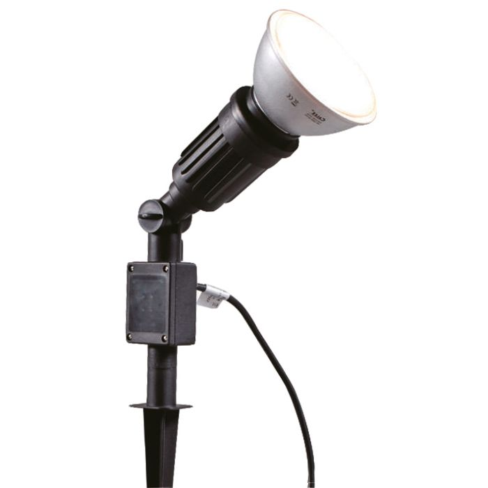 Garden-Spike-Light-Par38-Black