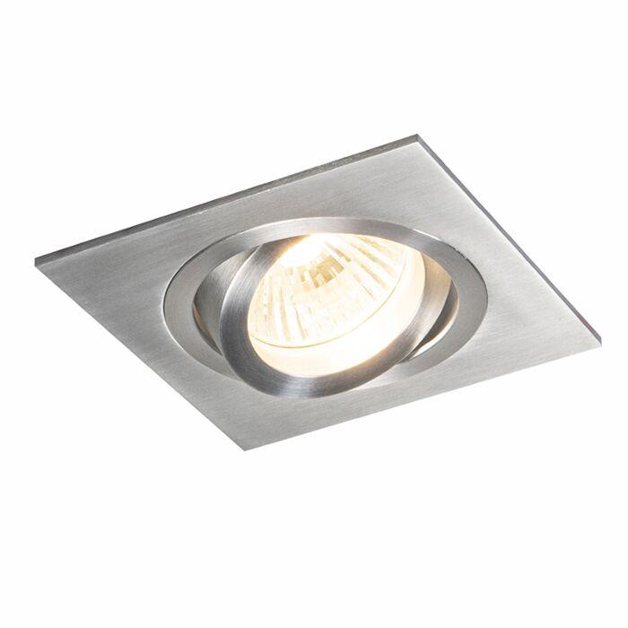 Recessed-Square-Spotlight-Brushed-Aluminium---Lock-1