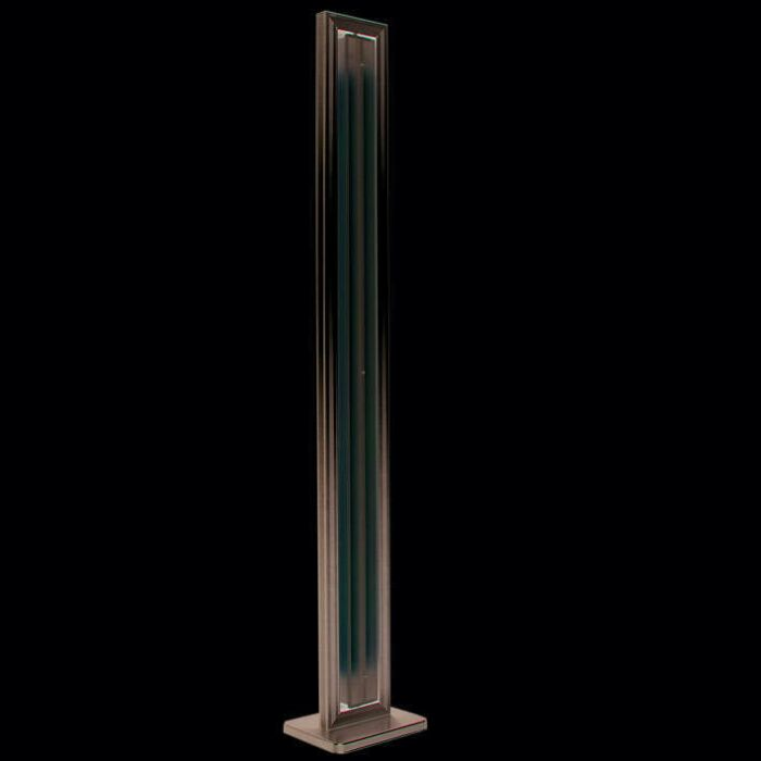 Floor-lamp-Tube-straight-silver-2-x-35W
