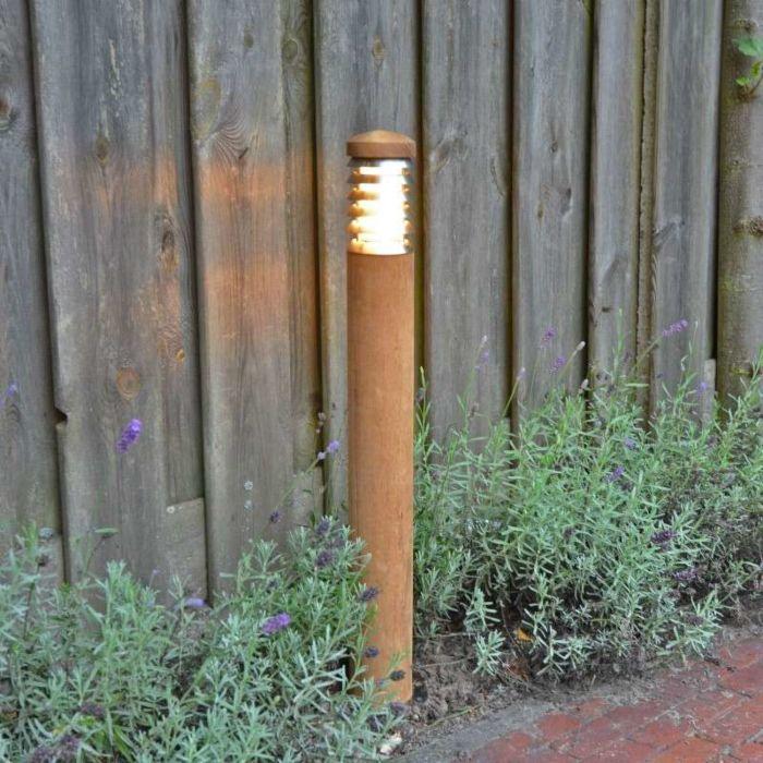 Outdoor-Lamp-Pole-70-Teak