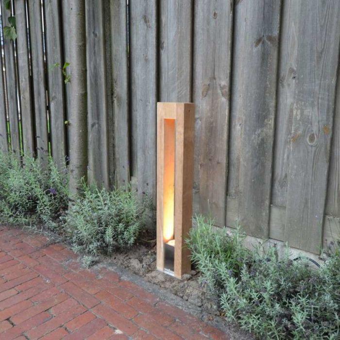 Outdoor-Lamp-Pontis-Pole-70-Teak