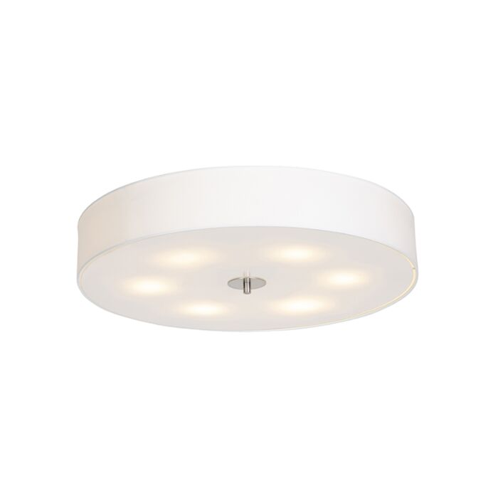 Country-ceiling-lamp-white-70-cm---Drum