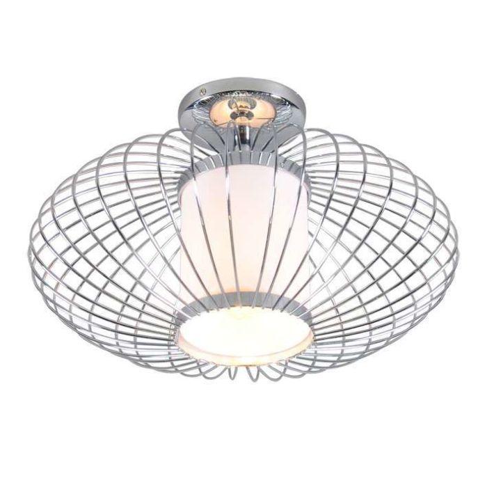 Ceiling-Lamp-Wire-Pumkin-40-Chrome