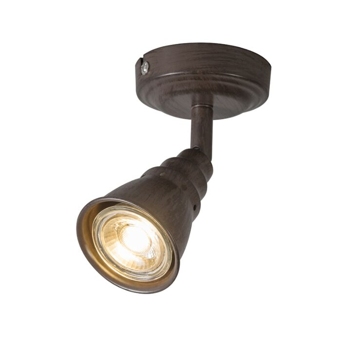Ceiling--and-wall-spot-rusty-brown-swivel-and-tilt---Coney-1