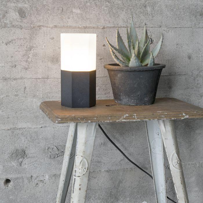 Table-Lamp-Hexagon-Black