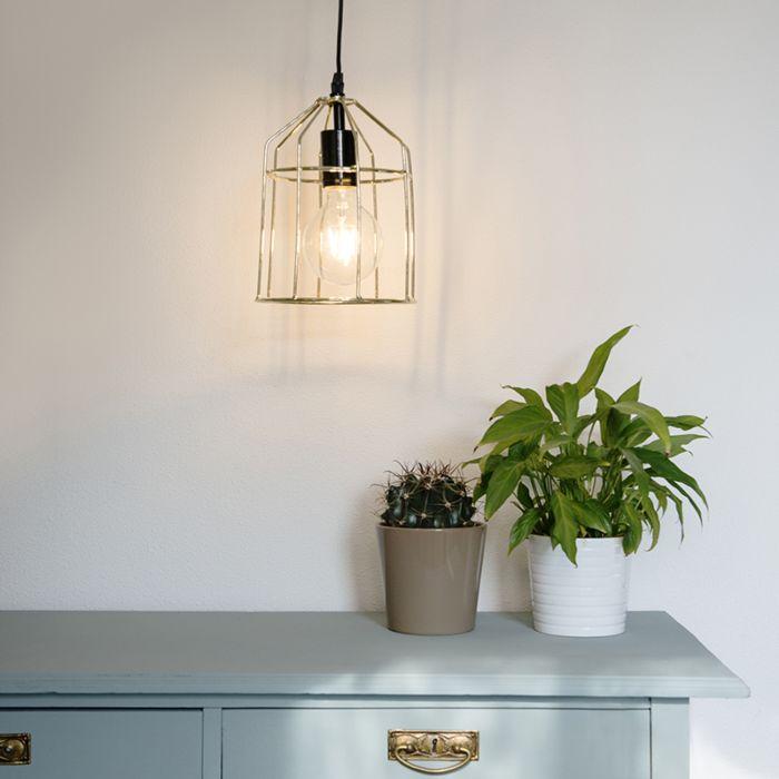 Pendant-Lamp-Frame-B-Gold