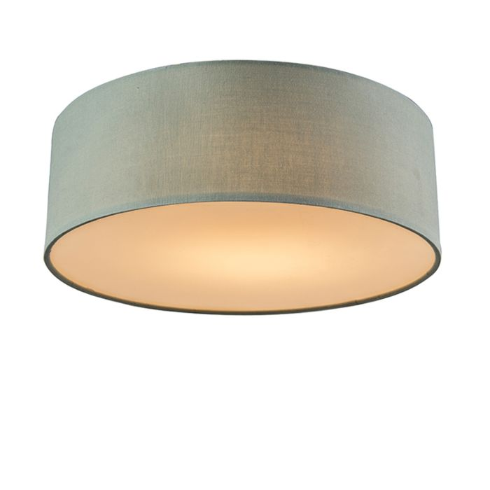 Ceiling-lamp-green-30-cm-incl.-LED---Drum-LED
