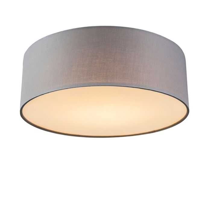 Ceiling-lamp-gray-30-cm-incl.-LED---Drum-LED