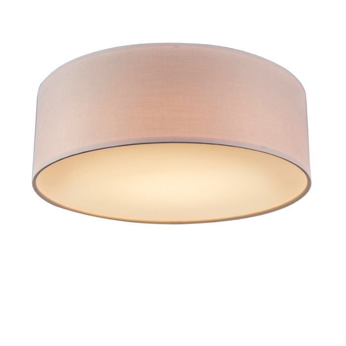Pink-ceiling-lamp-30-cm-incl.-LED---Drum-LED