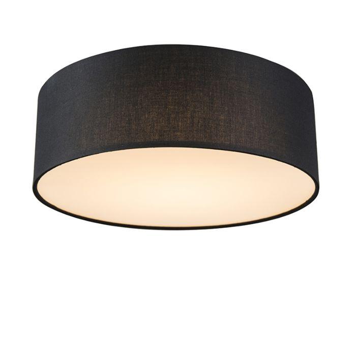 Ceiling-lamp-black-30-cm-incl.-LED---Drum-LED