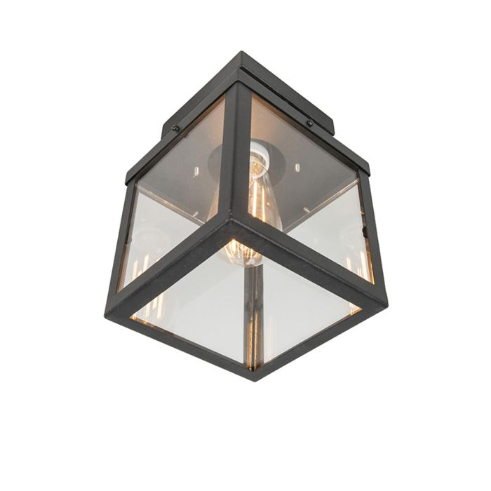 Industrial-outdoor-ceiling-lamp-black-1-light---Rotterdam