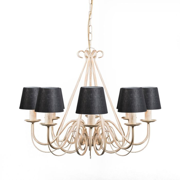 Chandelier-Aged-White-with-Black-Linen-Clamp-Shades---Giuseppe-8
