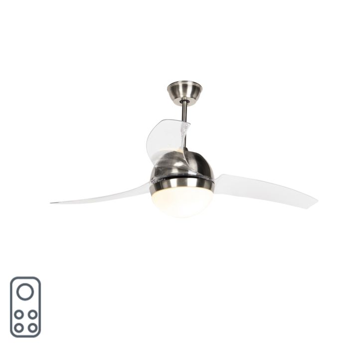Steel-ceiling-fan-with-remote-control---Bora-52