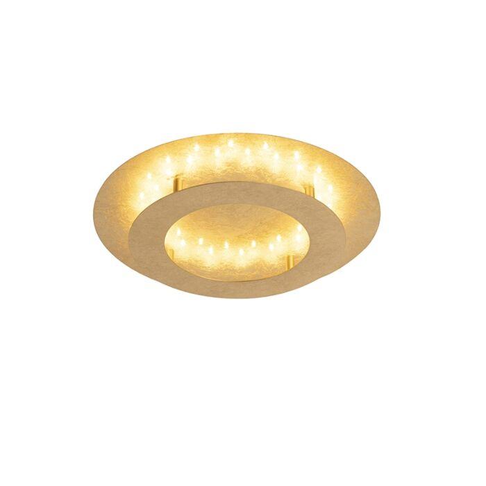 Retro-Round-Ceiling-Lamp-Gold-Leaf-40cm-incl.-LED---Belle