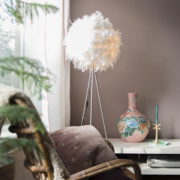 Romantic-floor-lamp-white---Feather