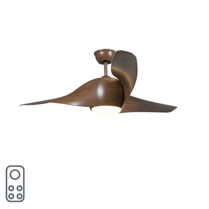 Wood-ceiling-fan-incl.-LED-with-remote-control---Sirocco-50