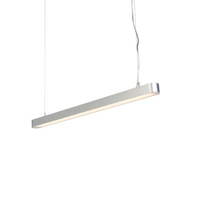 Modern-Pendant-Lamp-100cm-Silver-incl.-LED---Duct-R
