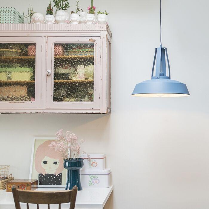 Vintage-hanging-lamp-blue-43-cm---Living