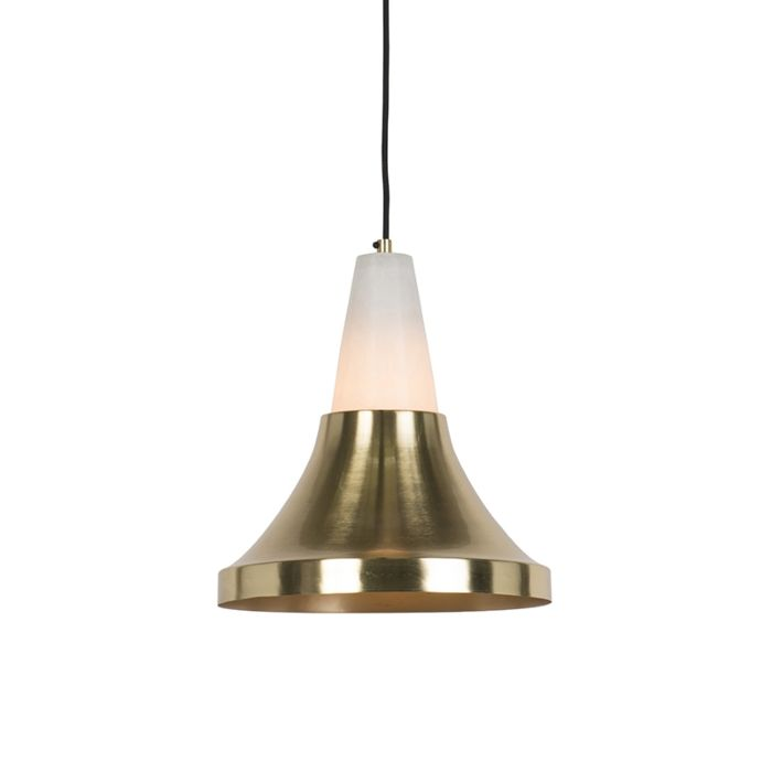 Modern-Pendant-Lamp-Brass-with-Marble---Albasta-A