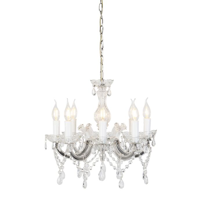 Vintage-chandelier-chrome-C-arm-8-lights---Marie-Theresa