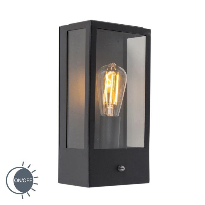 Exterior-wall-lamp-black-with-light-dark-sensor---Rotterdam-1