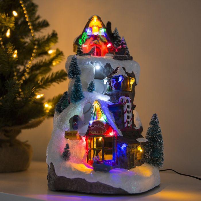 Christmas-Village-Ski-Slope-LED-Multi-Colour