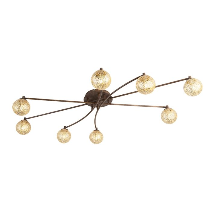 Country-Ceiling-Lamp-8-Brown-Rust---Kreta