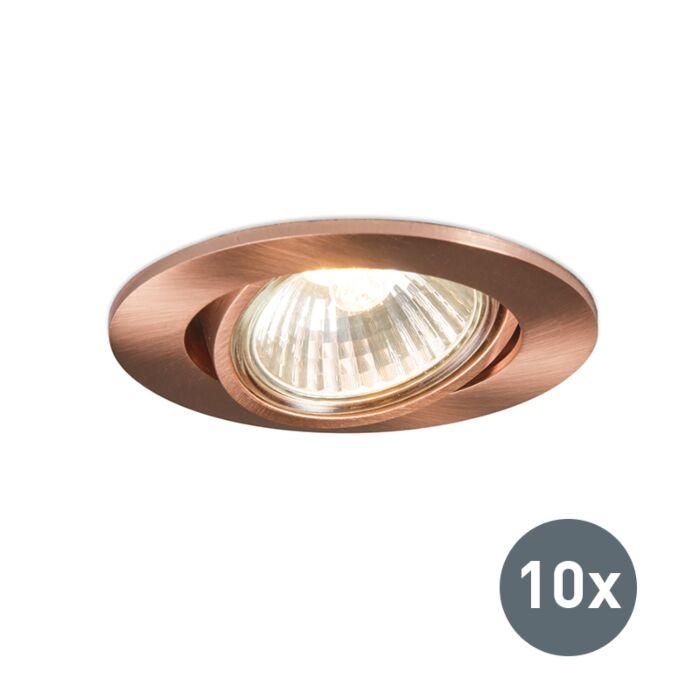 Set-of-10-Recessed-Spotlight-Copper---Cisco