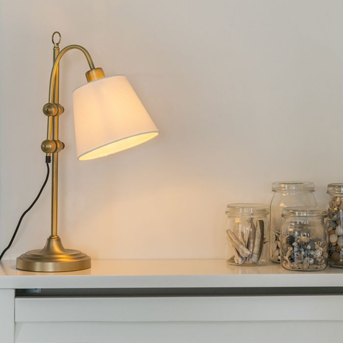 Classic-table-lamp-bronze-with-white-shade---Ashley