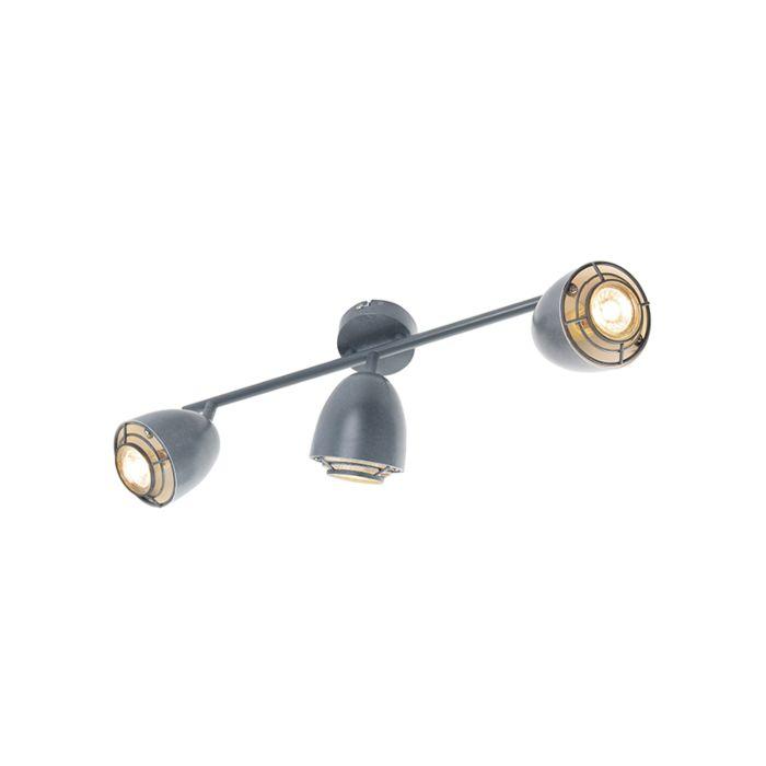 Ceiling-spot-gray-swivel-and-tiltable-2-light---Plan
