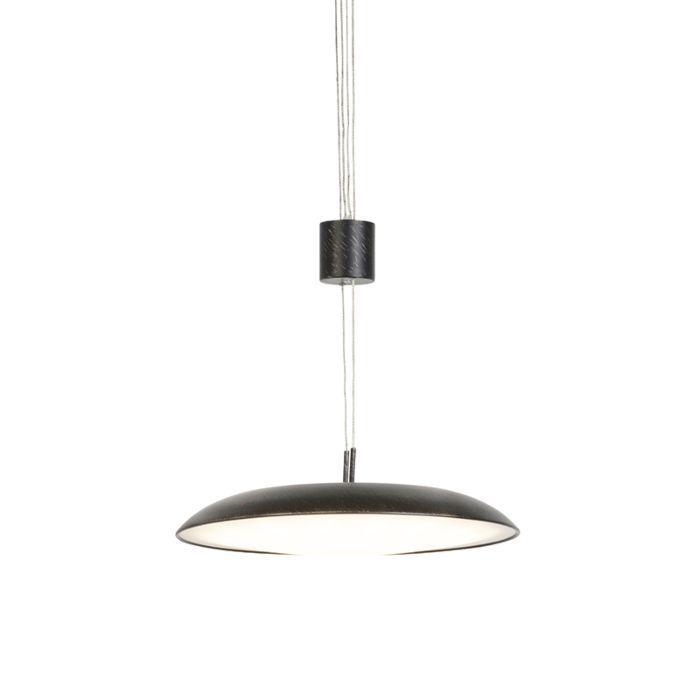Modern-Adjustable-Pendant-Lamp-Dark-Brown-incl.-LED---Daxam