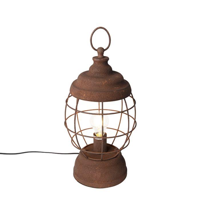 Rustic-table-lamp-rust---Lentera